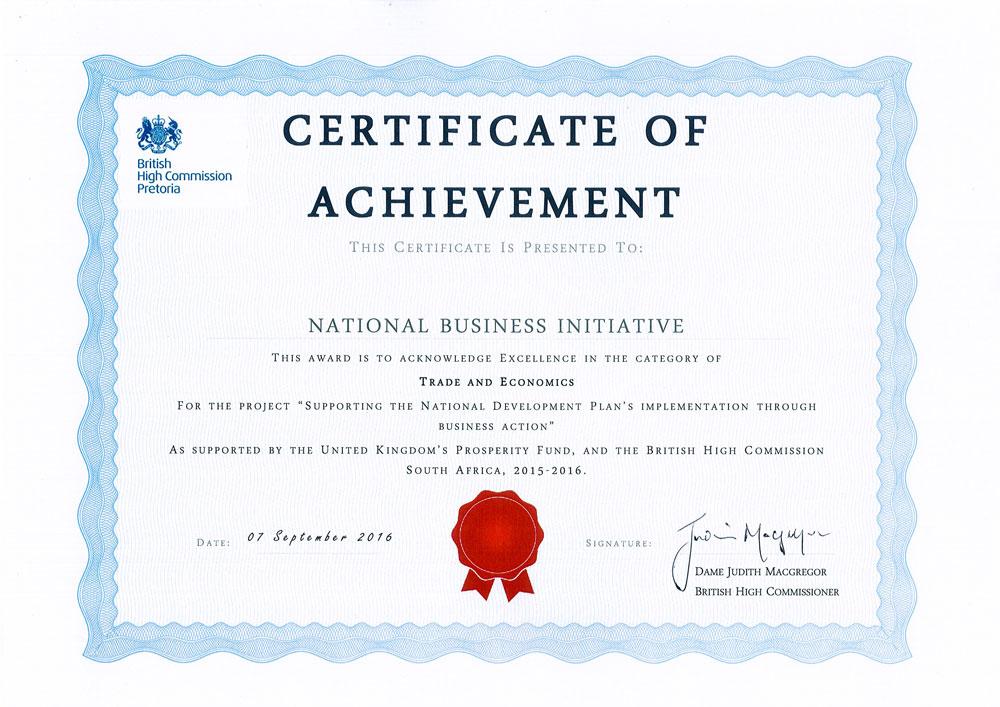 National Development Plan Implementation (NDP)