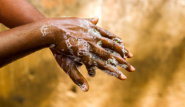Hand washing image