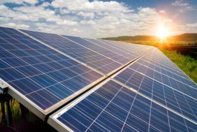 Solar panel sunset Website